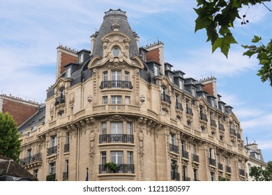 Typical Old, Vintage European Architectural Apartment, Residence Building in Paris France.