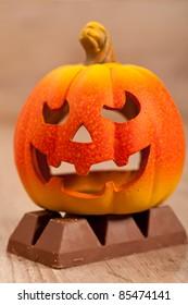 Typical orange pumpkin for halloween