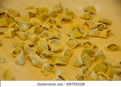 Typical pasta of the Langhe: agnolotti