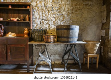 A typical period European kitchen/utility room.