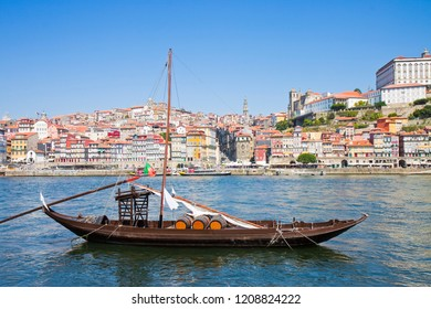 Typical portuguese boats used in the past to transport the famous port wine