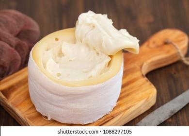 typical portuguese cheese of serra da estrela