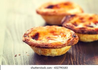 typical portuguese dessert pasteis de nata
