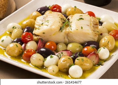 A typical Portuguese dish with codfish called Bacalhau do Porto