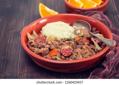 typical portuguese dish Feijoada a transmontana