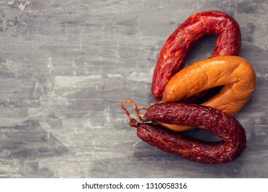 typical portuguese smoked sausages