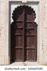typical Rajasthani closed antic wooden door