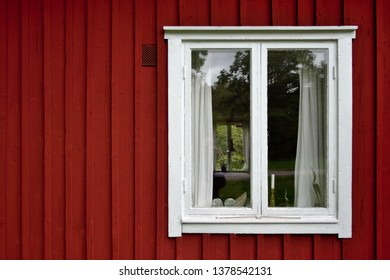 Typical Red House in Småland, Sweden.