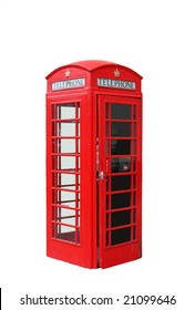 The typical red telephone booth of London, UK