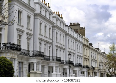 Typical residential houses of London, Great Britain