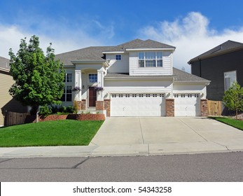 Typical residential tract house in suburban Colorado in the suburbs of Denver