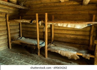 Typical Room and Beds at Fort Clatsop, Lewis and Clark National Historical Park