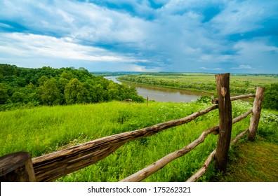 Typical Russian landscape, near Polenovo, Oka river
