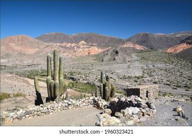 Typical Salta landscape in Argentina