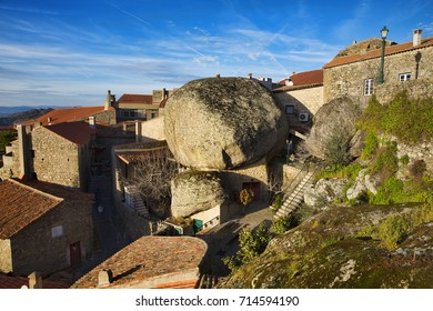 Typical Scene with Famous Stones in the Village of Monsanto, Portugal