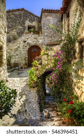 Typical Scene from the Medieval Village of Peillon, Alpes-Maritimes, Provence, France