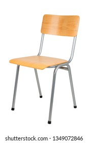 Typical school chair isolated on white