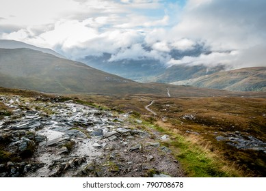 Typical Scottish landscape on the West Highland Way
