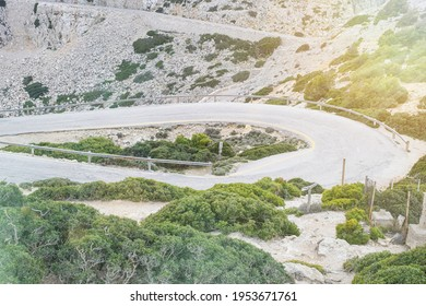 typical serpentines road on Mallorca, Formentor, Spain