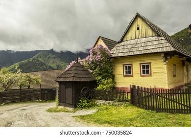 typical slovakian house village national traditional landscape room old cultural folk
