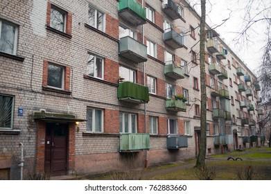 Typical soviet block in Riga, Latvia.