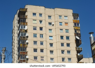 Typical soviet block in Vilnius city, Lithuania.