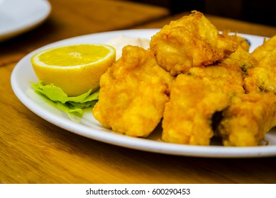 Typical spanish deep fried  fish