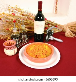 Typical spanish dish with chick peas