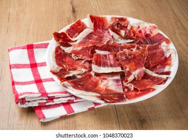 Typical Spanish ham