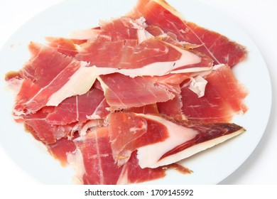typical spanish ham as high gastronomy
