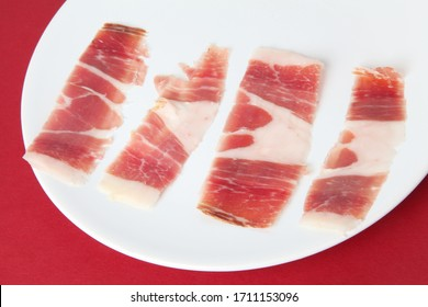 typical spanish salted ham as delicatessen food
