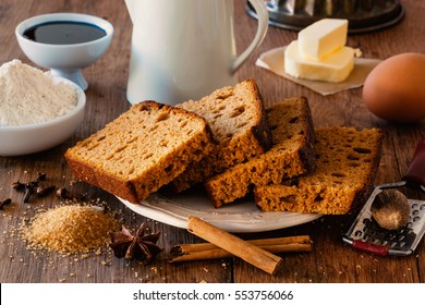 Typical spice bread from Holland with ginger, cinnamon, nutmeg and cloves.