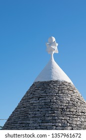 Typical stone roof of a trullo, traditional dwelling in Alberobello village in Puglia, Italy.