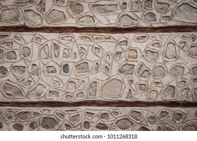 Typical stone wall in Bulgaria