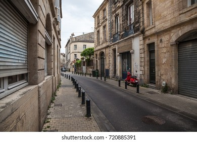 Typical street in Bordeaux. France.