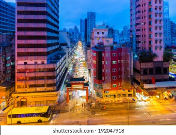 Typical street market in Hong Kong