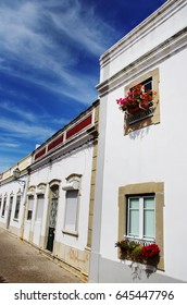 typical street of Sao Bras Alportel, Algarve, Portugal