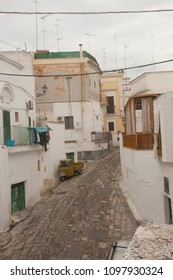 Typical street of South Italy. Massafra town, region Puglia.