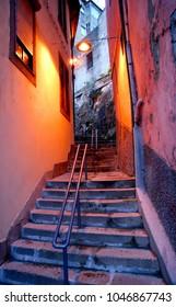 Typical street in Vila Nova de Gaia, Portugal