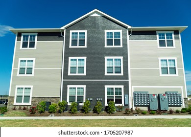 Typical suburban apartment building for rent