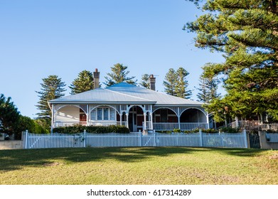 Typical suburban family cottage house with a porch, Western Australia