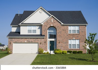 Typical suburban single family house in Midwest
