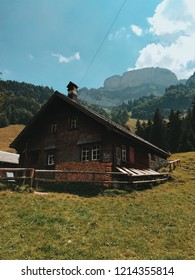 Typical Swiss houses in Countryside