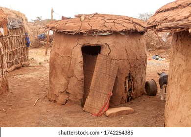 Typical traditional Masai house in Kenya
