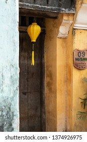 Typical traditional yellow house in the streets of Hoi An, Vietnam