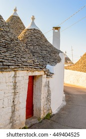 Typical trulli houses of Alberobello, a small town in Apulia, Italy. The Trulli of Alberobello have are a UNESCO World Heritage site since 1996