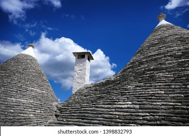 Typical trulli houses with conical roof, Alberobello, Apulia, Italy