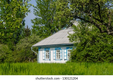 A typical ukrainian antique house, in Pirogovo near Kiev
