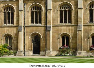 Typical university quadrangle detail