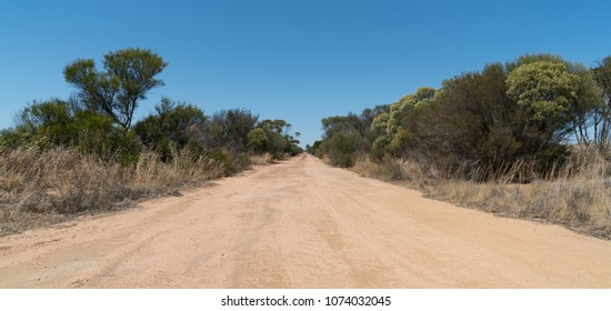 Typical unsealed road within the outback of Western Australia